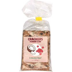 Crackers cranberry coco 200 g
